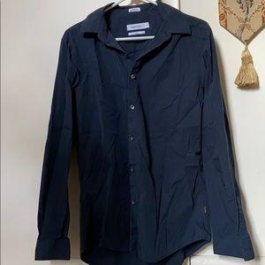Calvin Klein slim fit striped button down shirt